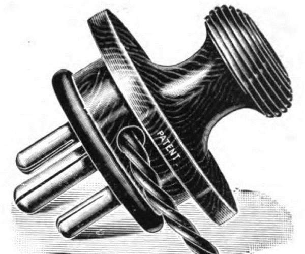 Illustration-Of-Tripin-3-Pin-Earthed-Plug-Dated-1911-Audiopolitan